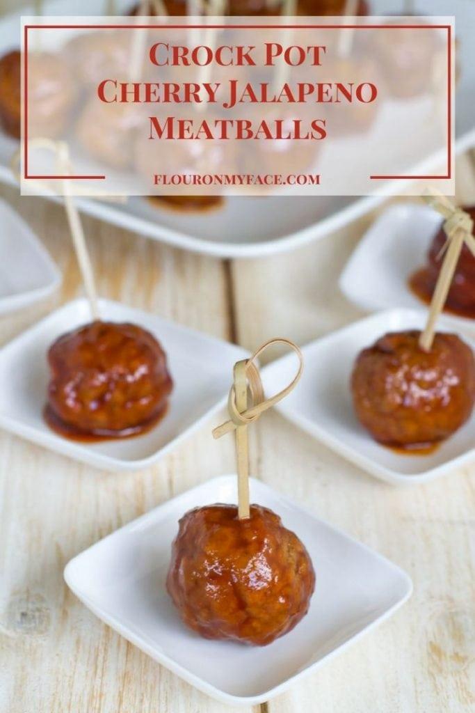 Crock Pot Cherry Jalapeno Meatballs