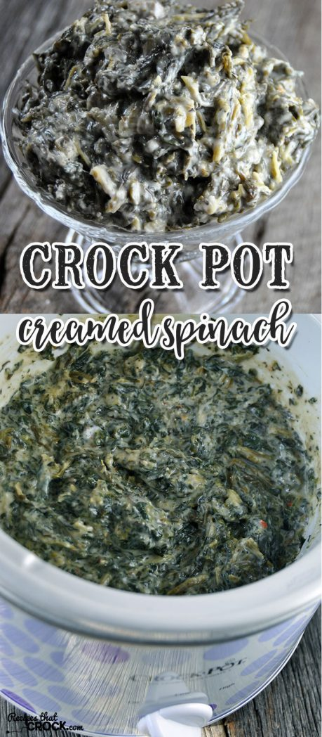 This Crock Pot Creamed Spinach is so good, everyone will want to eat their spinach!