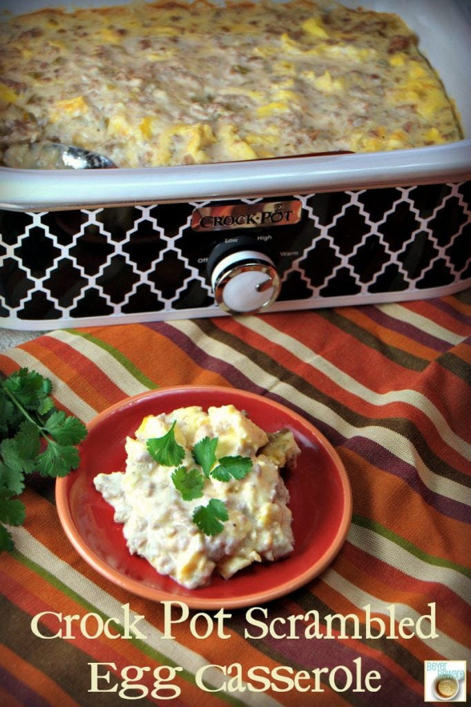 Crock Pot Scrambled Egg Casserole