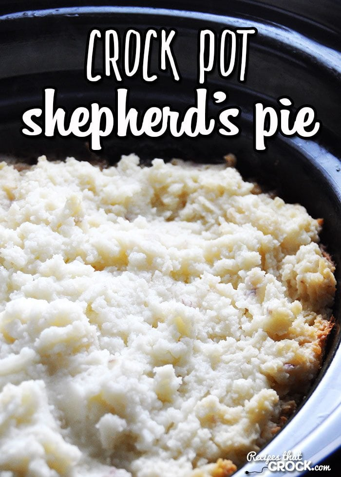 This Crock Pot Shepherd's Pie is delicious and comfort food at its best!