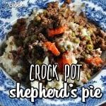 Crock Pot Shepherd's Pie