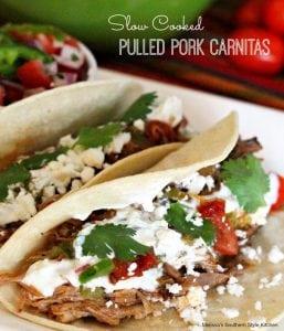 Slow Cooker Pulled Pork Carnitas