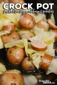 Crock Pot Smoked Sausage, Cabbage and Potatoes is an easy crock pot recipe that you can toss in your crock pot and cook all day.