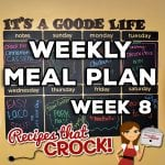 Weekly Meal Plan – Week 8