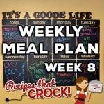 Weekly Meal Plan – Week 8