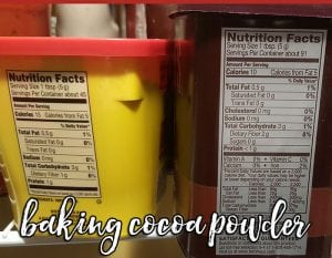 Nutrition labels vary