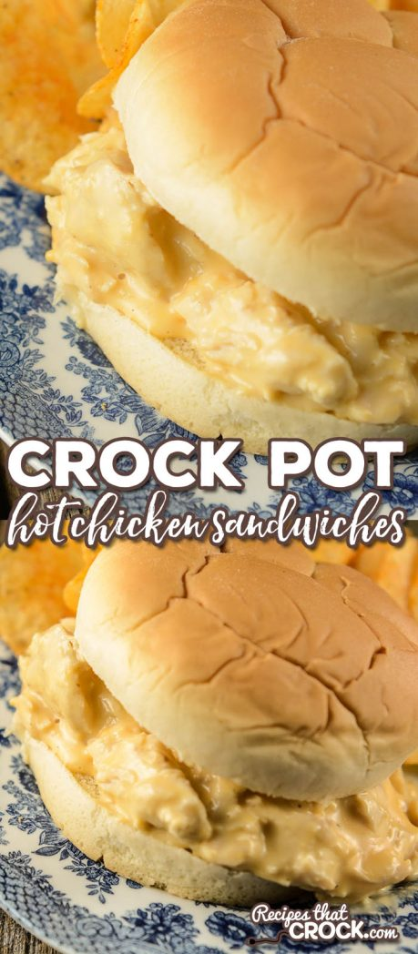 Are you looking for a tasty sandwich recipe to feed a crowd? Our Crock Pot Hot Chicken Sandwiches are the perfect leftover chicken recipe. It is a one of our favorite leftover turkey recipes too!)