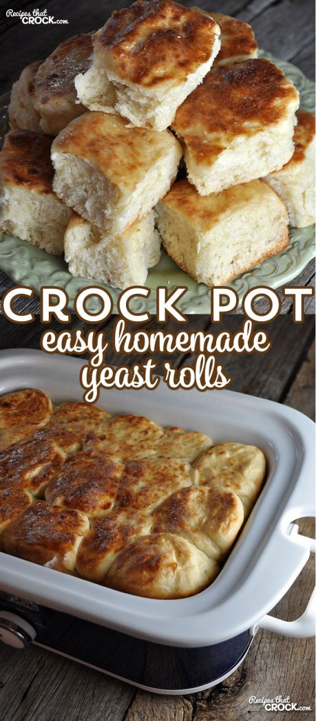 These Crock Pot Easy Homemade Yeast Rolls are the best yeast rolls I have ever had, but I may be biased since they are made from my Momma's tried-and-true recipe.