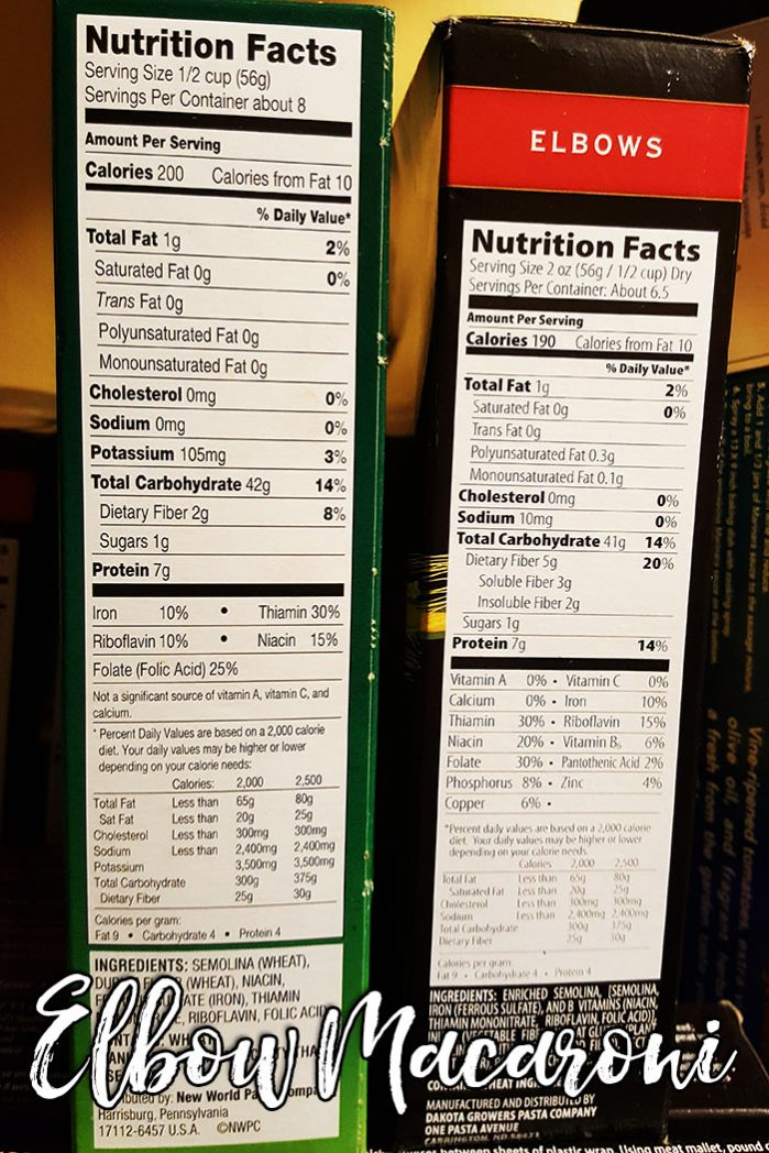 Nutritional Information Varies