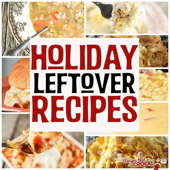 Don't let all your extra turkey and ham go to waste! These Holiday Leftover Recipes give your leftover holiday turkey and ham new life!