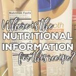 Frequently Asked Questions: Nutritional Information