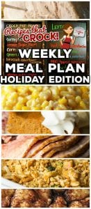 We are switching things up with week with a Weekly Meal Plan - Holiday Edition! We will be including some delicious dishes for the holidays as well as some ideas for what you can make with all those leftovers!