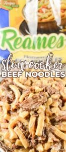 Are you looking for an easy beef and noodles recipe? Our Slow Cooker Beef Noodles are simple to throw together and have that amazing old fashioned comfort food flavor.