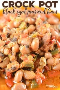 Are you looking for an easy and delicious way to cook up dried black eyed peas? Our Crock Pot Black Eyed Peas and Ham Recipe has an amazing flavor and is the perfect all day slow cooker recipe.