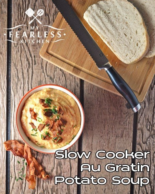 Slow Cooker AU gratin Potato Soup
