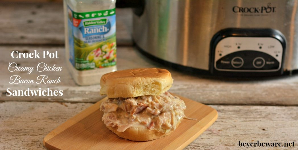 Creamy Chicken Bacon Ranch Sandwiches