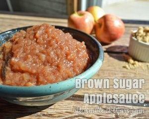 Slow Cooker Brown Sugar Applesauce