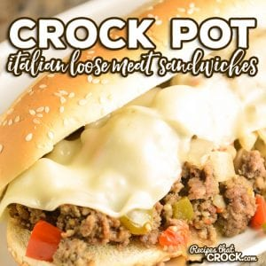 Are you looking for a delicious sandwich recipe to serve up to family and friends? These Crock Pot Italian Loose Meat Sandwiches are so flavorful and so easy to make.