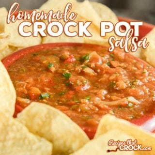 Do you love homemade salsa? Our homemade crock pot salsa is so simple to throw together and has that great made from scratch taste!