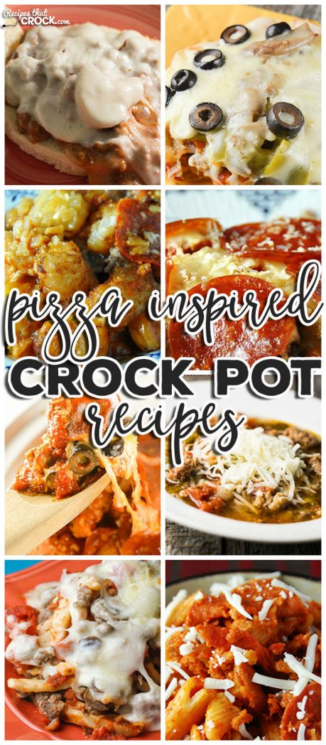 Do you love pizza? Well you know we do around here! So we couldn't help but put together this list of delicious Pizza Inspired Crock Pot Recipes.