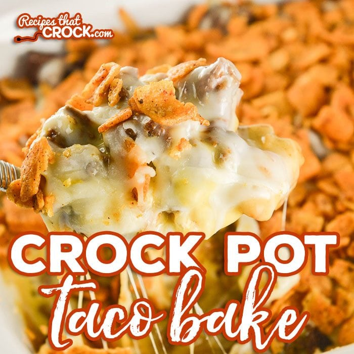 Crock Pot Taco Bake is an delicious adaptation of our popular oven recipe. Layers of chili cheese fritos, taco meat, cheese sauce, shredded cheese and more fritos bake up into a delicious casserole we love to serve over a bed of lettuce with all our favorite taco toppings! #ad #BoardToTable @krogerco