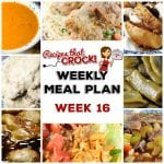 Meal Planning: Weekly Crock Pot Menu 16 (plus Weekly Chat)