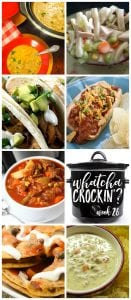 This week's Whatcha Crockin' crock pot recipes include Chicken Stew, Crock Pot Game Day Taco Nachos, Vegetable Beef Soup, Crock Pot Sausage Queso Dip, Crock Pot Chili Cheese Dogs, Crock Pot Pork Carnitas, Slow Cooker Green Chili, Chicken and Rice Soup and much more!