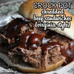 Crock Pot Shredded Beef Sandwiches (Virginia Style)