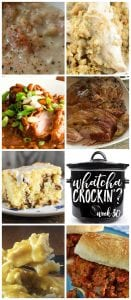 This week's Whatcha Crockin' crock pot recipes include Crock Pot Simple Ham and Bean Soup, Crock Pot Cheesy Chicken and Rice, Crock Pot Chicken and Stuffing Casserole, Crock Pot Coffee Cake, Crock Pot Whisky and Apricot Glazed Ham, Slow Cooker Sloppy Joes, Easy Slow Cooked Country Ribs and Barbecue Beans and much more!