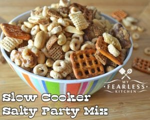 Slow Cooker Salty Party Mix