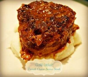 Slow Cooker French Onion Swiss Steak