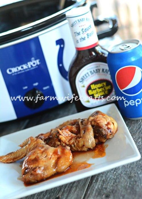 Slow Cooker Honey BBQ Wings