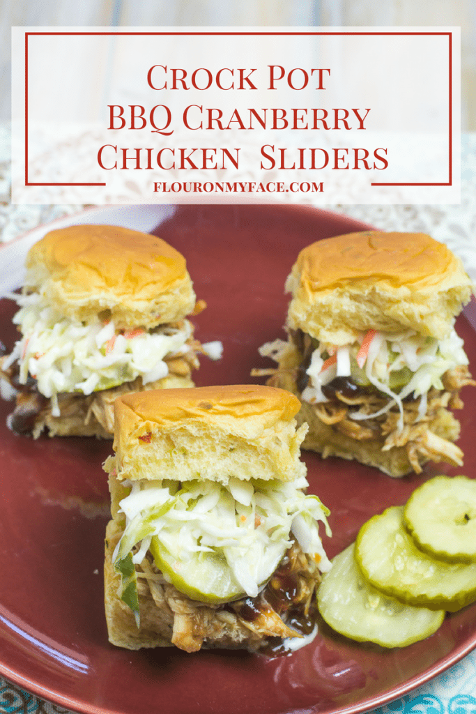 Crock Pot BBQ Cranberry Chicken Sliders