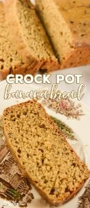 Crock Pot Banana Bread: Did you know that you can make bread in a slow cooker? We love this Crock Pot Banana Bread recipe. It is easy to make and deliciously moist and flavorful.