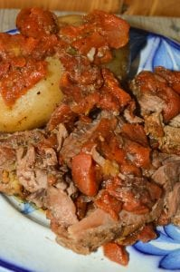 Slow Cooker Greek Beef & Potatoes