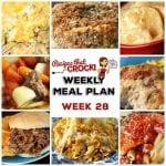 Meal Planning: Weekly Crock Pot Menu 28