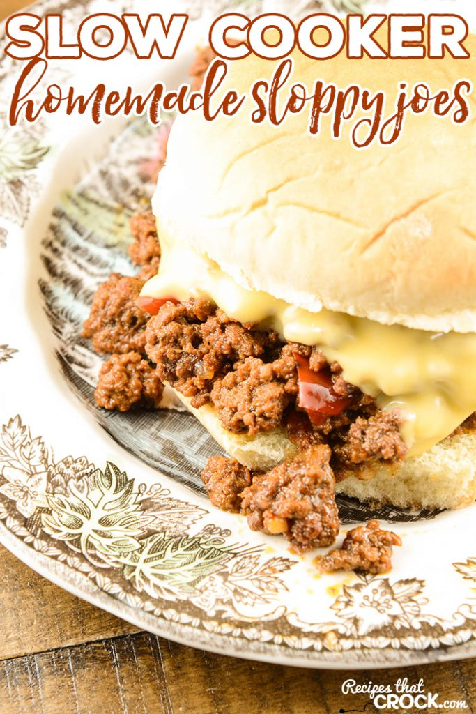 Are you looking for a great Homemade Sloppy Joes slow cooker recipe? We just love these super easy Homemade Sloppy Joes (Slow Cooker) for weeknight family dinner or great for feeding a crowd!