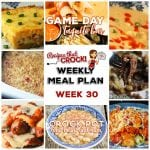 Meal Planning: Weekly Crock Pot Menu 30