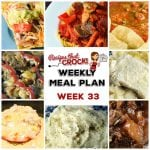 Meal Planning: Weekly Crock Pot Menu 33