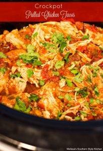 Crock Pot Pulled Chicken Tacos