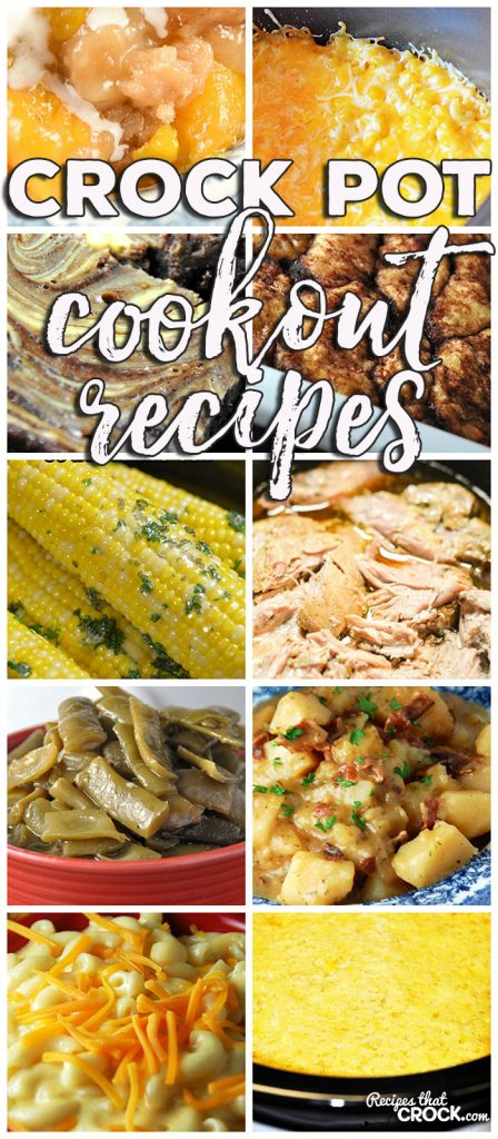 This week for our Friday Favorites we have some yummy Crock Pot Cookout Recipes like Crock Pot Corn on the Cob, Creamy Crock Pot Mac 'n Cheese, Extra Cheesy Crock Pot Mac 'n Cheese, Crock Pot German Potato Salad, Crock Pot Green Beans, Crock Pot Corn Casserole, Easy Crock Pot Pulled Pork, Easy Crock Pot Peach Cobbler, Crock Marble Brownies, Crock Pot Apple Dumplings!