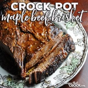 If you love a delicious brisket recipe that is easy to make, then you are gonna fall head over heels for this Crock Pot Maple Beef Brisket!
