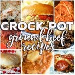This week for our Friday Favorites we have some yummy Crock Pot Ground Beef Recipes like Crock Pot Crustless Pizza, Spaghetti with Homemade Meatballs, Crock Pot Unstuffed Cabbage Soup, Crock Pot Hamburger Casserole, Crock Pot Cheeseburger Sandwiches, Slow Cooker Cheddar Meatloaf, Crock Pot Million Dollar Pasta and Tavern Sandwiches!