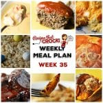 Meal Planning: Weekly Crock Pot Menu 35