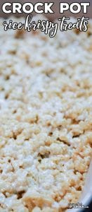 Are you looking for an easy way to make Rice Krispy Treats without heating up the kitchen? Our Crock Pot Rice Krispy Treats are a great way to make your favorite childhood dessert without having to stand over the stove. And, with one simple trick, clean up is a snap! This method is great for travel, cooking with kids and anyone who needs a treat without access to a kitchen.