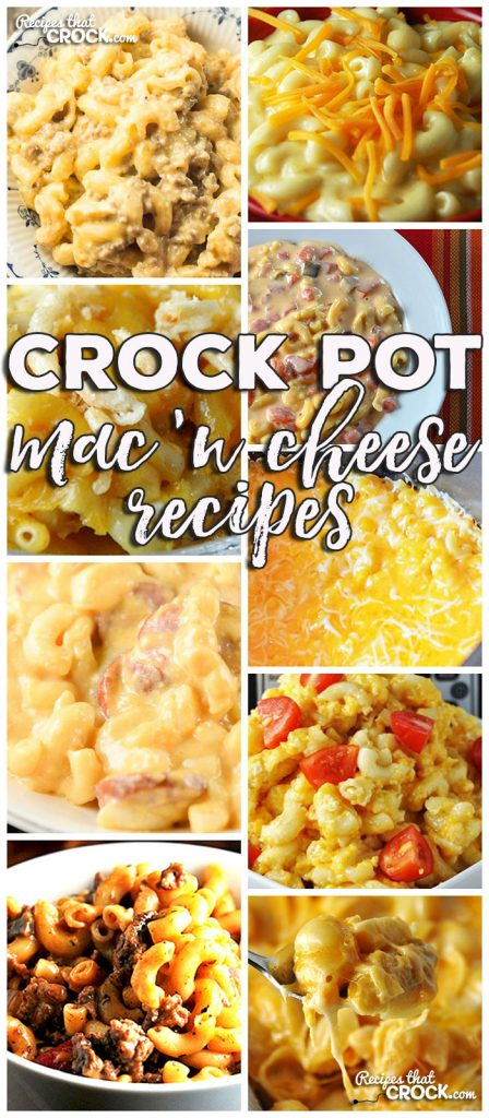 This week for our Friday Favorites we have some yummy Crock Pot Mac 'n Cheese Recipes like Crock Pot Smoked Sausage Mac 'n Cheese, Old Fashioned Crock Pot Mac 'n Cheese, Crock Pot Golden Mac n Cheese, Crock Pot Beefy Mac, Crock Pot Fiesta Mac 'n Cheese, Creamy Crock Pot Mac 'n Cheese, Extra Cheesy Crock Pot Mac 'n Cheese, Beefy Mac 'n Cheese & Crock Pot Cheese Lover's Shells!