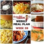 Meal Planning: Weekly Crock Pot Menu 39