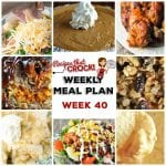 Meal Planning: Weekly Crock Pot Menu 40