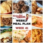 Meal Planning: Weekly Crock Pot Menu 41