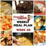 Meal Planning: Weekly Crock Pot Menu 42